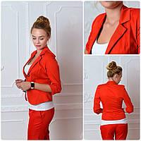 Жакет Эрика (01) красного цвета, фото 1