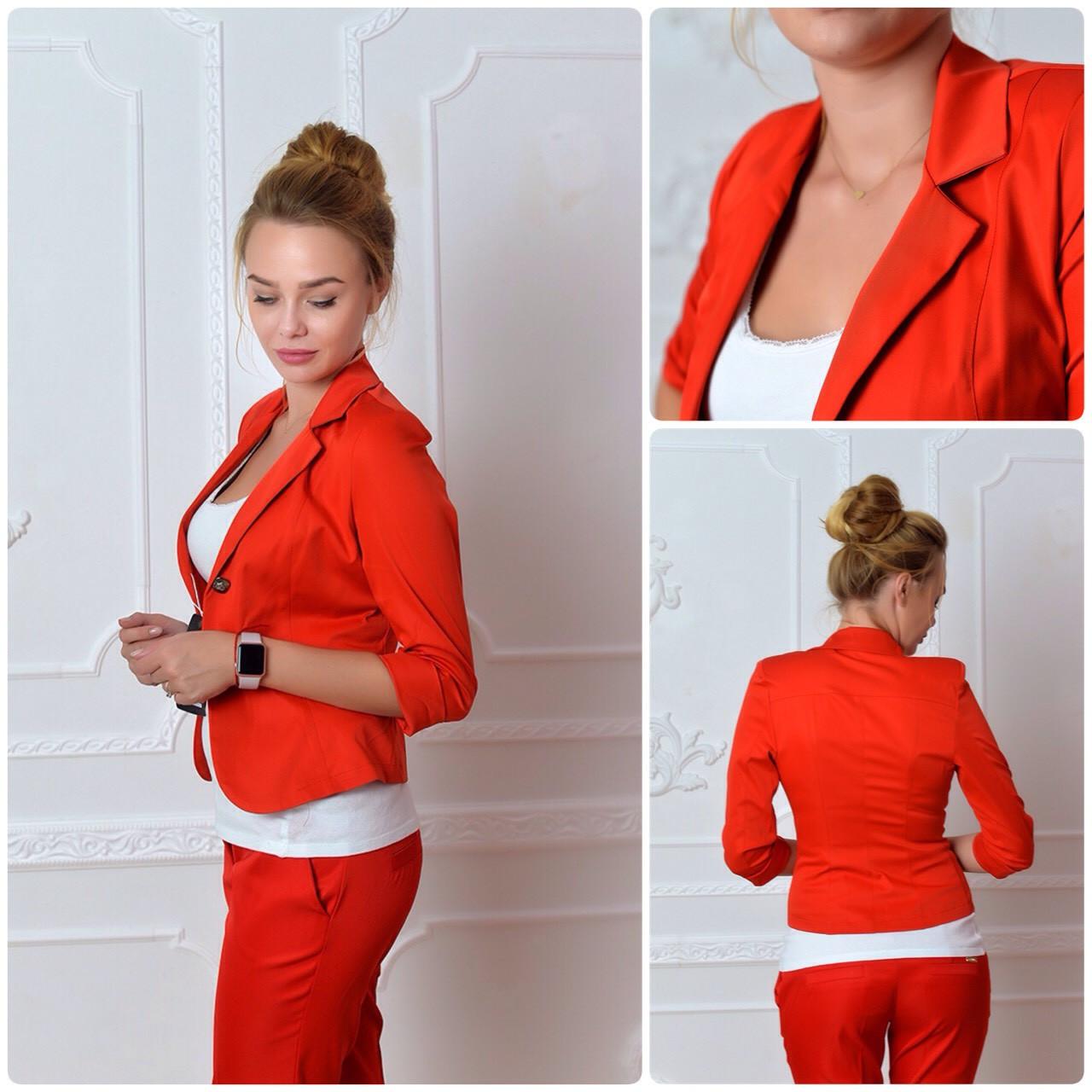 Жакет Эрика (01) красного цвета