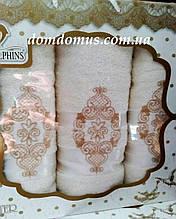 """Подарочный набор полотенец """"Ester"""" (баня 1 шт., лицо 2 шт.) TWO DOLPHINS, Турция 0172"""