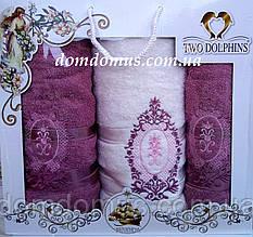 """Подарочный набор полотенец """"Ester"""" TWO DOLPHINS, Турция 0149"""