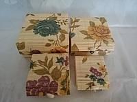 Набор бамбуковых шкатулок Загадочный Пион 4 шт.