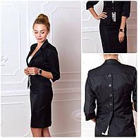 Пиджак  женский, модель 14, черный 44