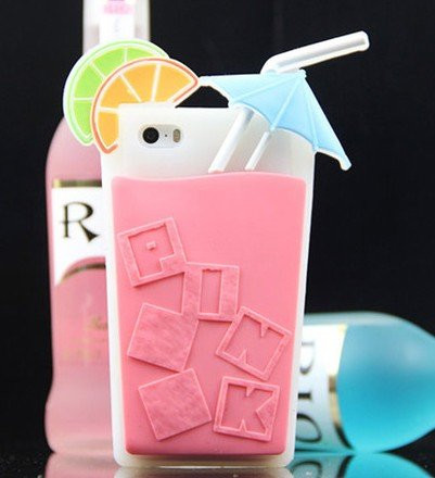 Чехол для iPhone 5 5S Pink Victoria's Secret коктейль