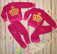 Детский спортивный костюм, трехнитка флис, 28-34 размер