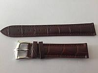 Ремешок коричневый кожанный 18мм
