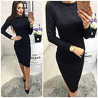 Платье 800/2 ангора софт люрекс черный , фото 1