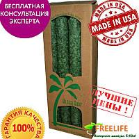 Aloha Bay, Свечи конические из пальмового воска, Без запаха, Зеленые 4 упаковки, 9 дюймов 23 см каждая