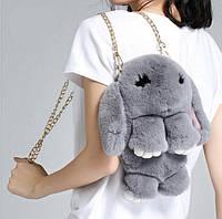 "Мягкая сумочка - рюкзак ""Кролик"" на цепочке (разные цвета)"