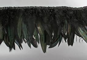 Перо-спідниця чорна з чорними хвостиками 15-20см/45-47см