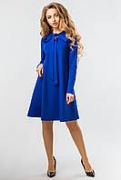 Синее платье с завязками