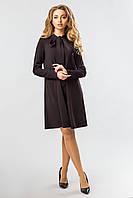 Черное платье с завязками