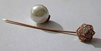 Позолоченная брошь с  жемчужиной от студии LadyStyle.Biz, фото 1