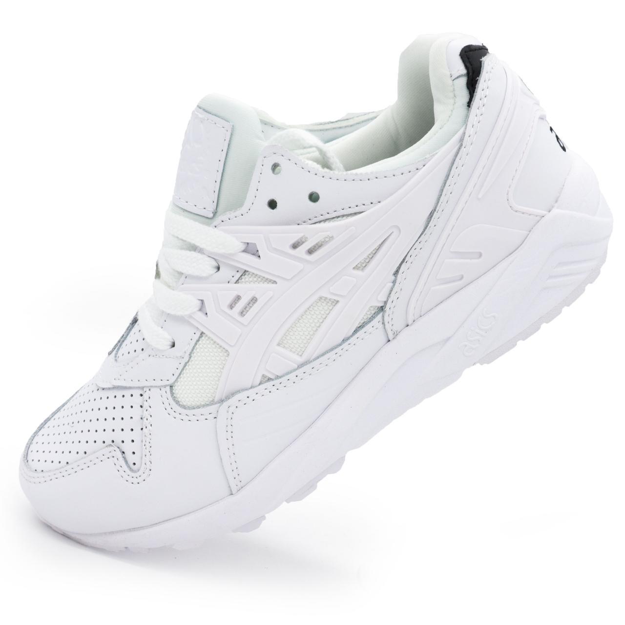 3e848933aa37 Белые женские кроссовки Асикс Asics Gel натуральная кожа р.(36, 37 ...