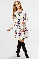 Свободное платье с цветами