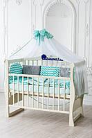 Комплект детского постельного белья в кроватку с плюшем  Минки