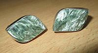 """Красивые серебряные запонки  с  серафинитом  """"Волна""""  от студии LadyStyle.Biz, фото 1"""