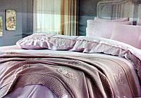 Набор постельного белья Gelin Home YAPRAK TRIKO SET Пудра евро 220x240
