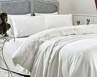 Комплект постельного белья Gelin Home ESMA PIKE SET Ekru евро 240*260