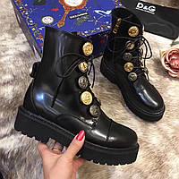 Женские высокие ботинки со шнуровкой Dolce&Gabbana