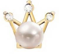 """Украшение """"Корона с жемчужиной"""", цв. золото, фото 1"""