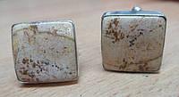 """Яркие серебряные запонки  с  пейзажной яшмой  """"Песок пустыни""""  от студии LadyStyle.Biz, фото 1"""