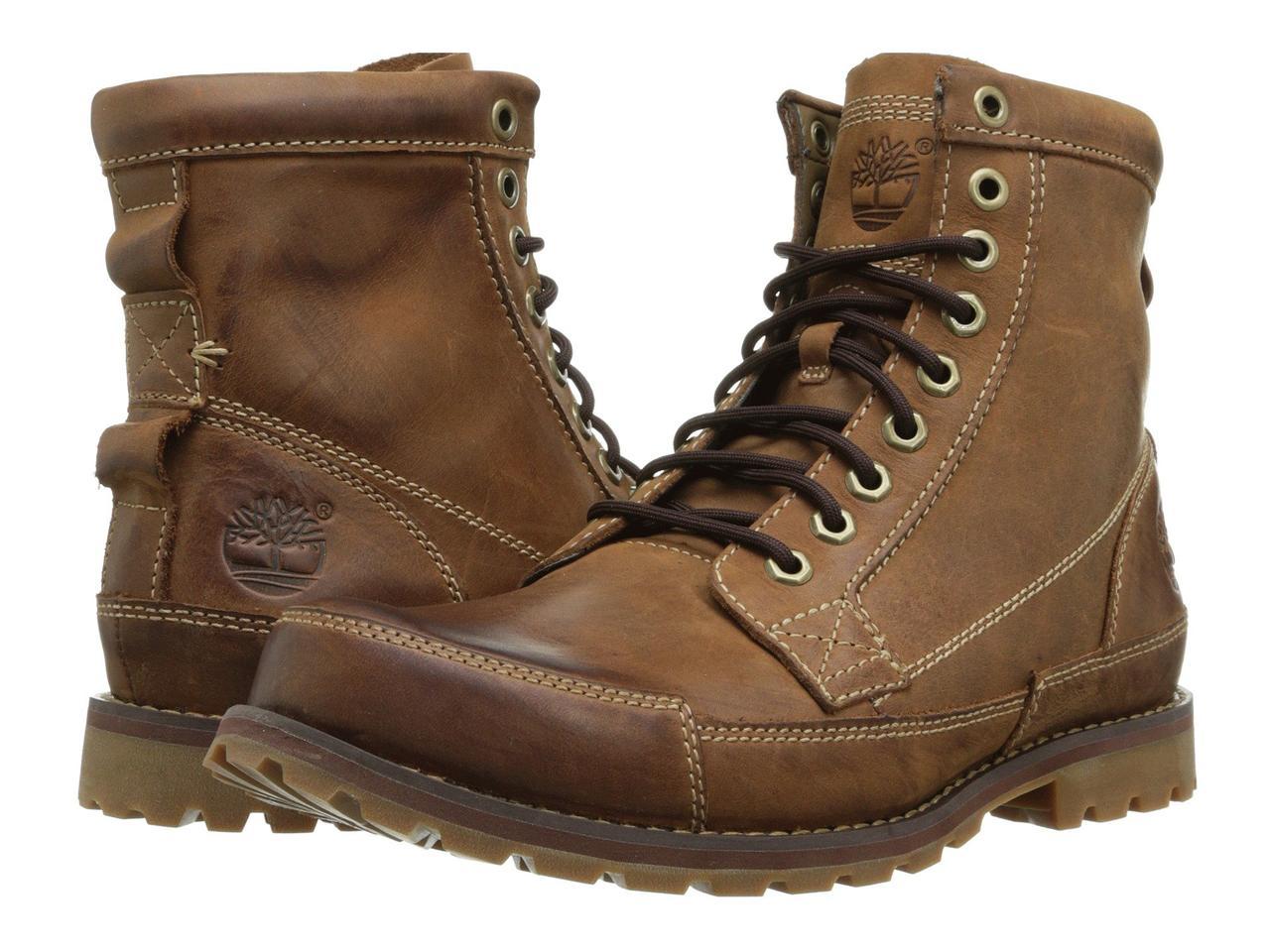 """Ботинки/Сапоги (Оригинал) Timberland Earthkeepers® Rugged Original Leather 6"""" Boot Medium Brown Nubuck"""