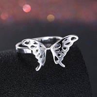 Позолоченное кольцо с бабочками 8