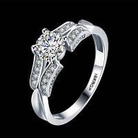 Платиновое кольцо из циркона 82905