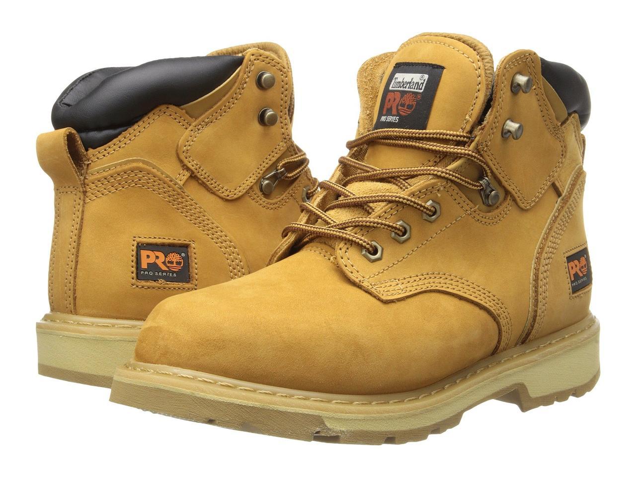 """Ботинки/Сапоги (Оригинал) Timberland PRO 6"""" Pit Boss Soft Toe Wheat Nubuck Leather"""