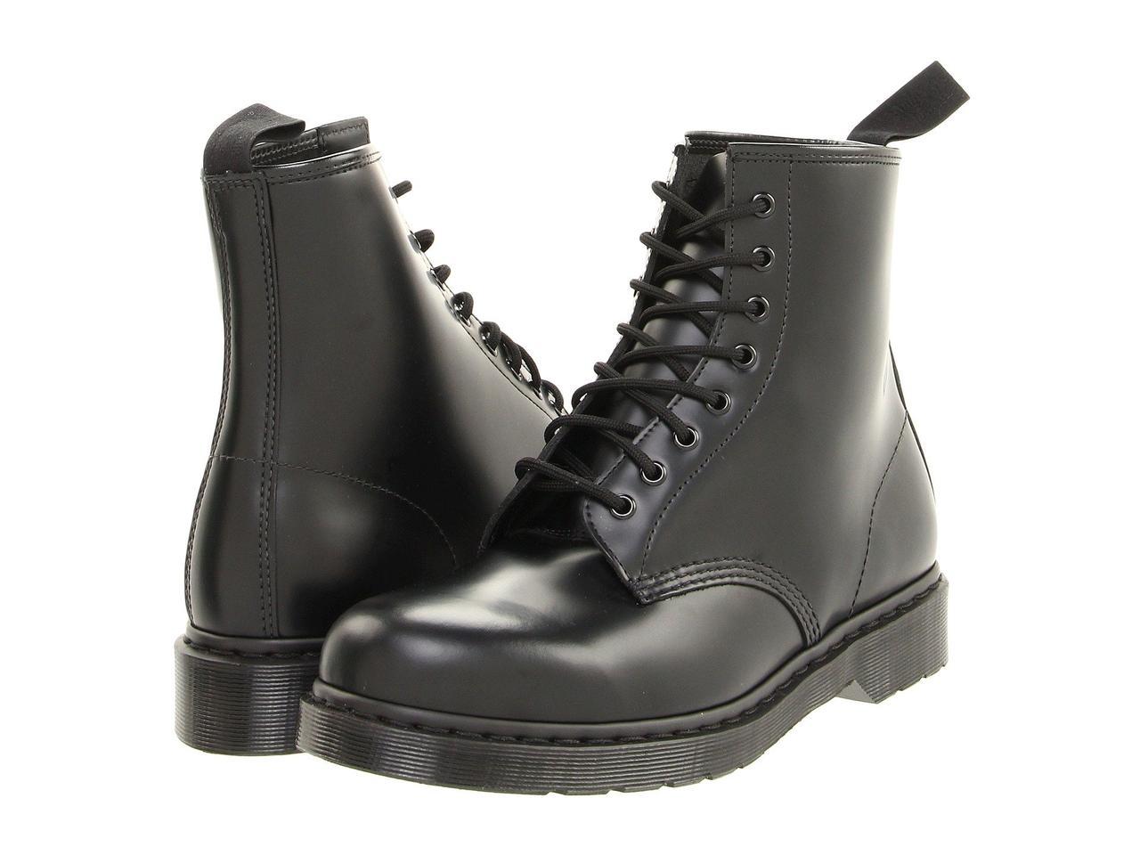 Ботинки Сапоги (Оригинал) Dr. Martens 1460 8-Tie Boot Black Smooth ... ef0d160646c7e