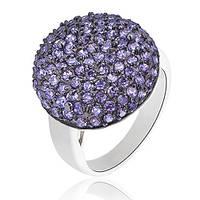 Серебряное кольцо Синий плен с кристаллами Swarovski 000000233