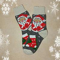 Женские новогодние носки с Дедом Морозом, р. 37-38