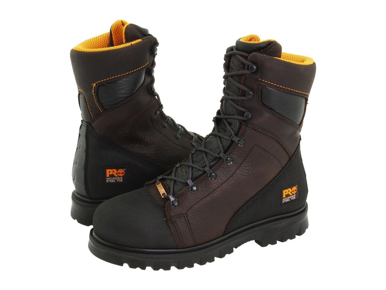 "Ботинки/Сапоги (Оригинал) Timberland PRO Rigmaster 8"" Waterproof Steel Toe Dark Brown/Black"