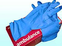 Перчатки латексні сині size XL (25пар/уп) ТМAMBULANSE