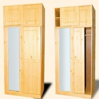 """Шкаф из дерева с антресолью """"Шато"""""""
