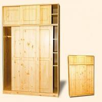 """Шкаф-купе для одежды трехстворчастый из дерева """"Шато-1"""""""