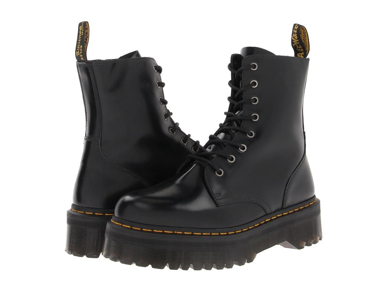 260c6253 Ботинки/Сапоги (Оригинал) Dr. Martens Jadon 8-Eye Boot Black Polished