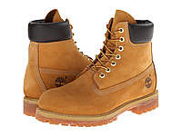 "Ботинки/Сапоги (Оригинал) Timberland 6"" Premium Boot Wheat Nubuck Leather"