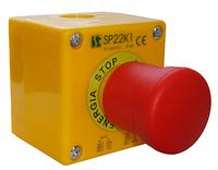 Пост управления 1-местный с кнопкой BN 2 сальник M20 Spamel SP22K1BN-2