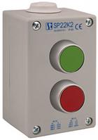 Пост управления 2-местный с кнопкой KZ, KC I 2 сальника M20 Spamel SP22K201-2 Пост управления 2-местный с кнопкой KZ, KC I 1 сальник M20 Spamel