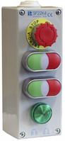Пост управления 4-местный с кнопкой B, 2KLZ  C, 2KLZ  C, LZ I 2 сальник M20 Spamel SP22K425-2 Пост управления 4-местный с кнопкой B, 2KLZ  C, 2KLZ  C,