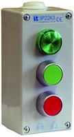 Пост управления 3-местный с кнопкой LB, KC, KZ I 2 сальника M20 230V Spamel SP22K307-2