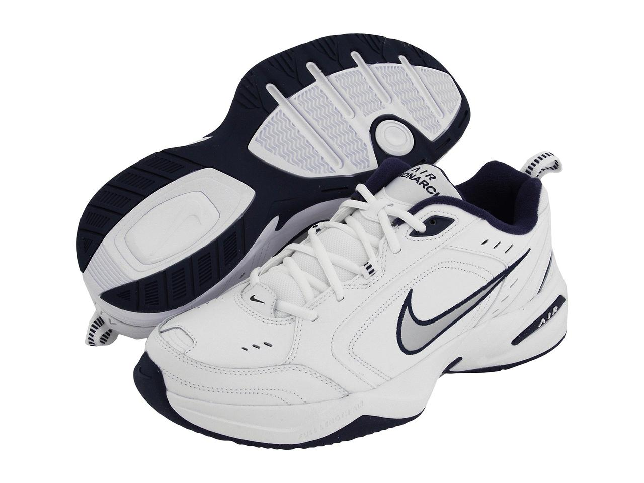 f5d848b004bf Кроссовки Кеды (Оригинал) Nike Air Monarch IV White Metallic Silver-Midnight