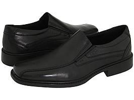Мокасины (Оригинал) ECCO New Jersey Slip-On Black Santiago Full-Grain Leather