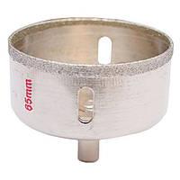 Сверло алмазное трубчатое по стеклу и керамике 65 мм INTERTOOL SD-0373, фото 1