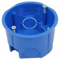 Инагропром Коробка установочная для монтажа выключателей и розеток одинарная Ø 60мм 100шт без винтов