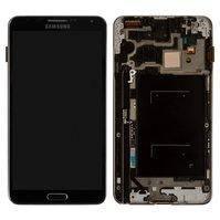 Дисплей для мобильных телефонов Samsung N900 Note 3, N9000 Note 3, серый, с сенсорным экраном, с рамкой, original (PRC)