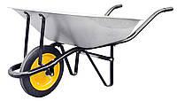 Тачка садовая 1-колесная, литое колесо, грузоподъемность 180кг, объем кузова 80л BudmonsteR 1/1