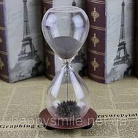 Декоративные стеклянные часы «Wild dance the hourglass» (магнитные песочные), большие