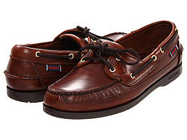 Топ-сайдеры (Оригинал) Sebago Schooner Brown Oiled Waxy